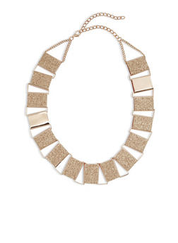 Glitter Square Link Necklace - 1123062929369