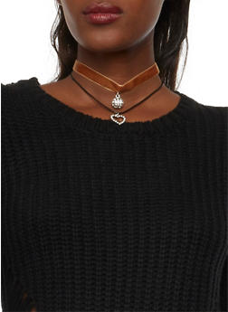 Set of 2 Choker Necklaces - 1123062929933