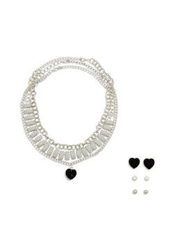 Trio Chain and Earring Set - 1123072693926