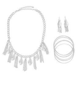 Necklace with Earrings and 6 Bangles - 1123072694275