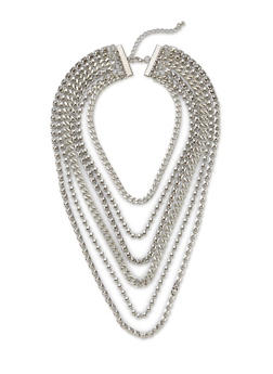 Layered Chain Necklace - 1123072695412