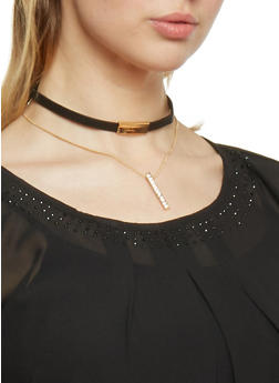 Layered Choker with Lobster Clasp - 1123072695564