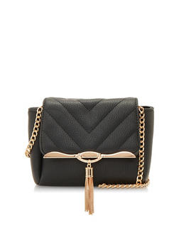 Chain Tassel Crossbody Bag - 1124040320440