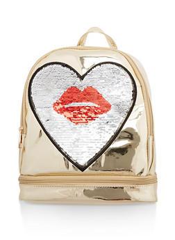 Reversible Kiss Sequin Backpack - 1124040320627