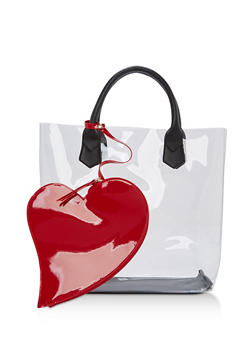 Clear Heart Tote Bag - 1124040320793