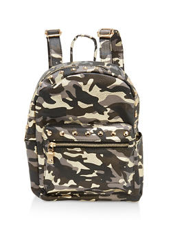 Camo Studded Backpack - 1124040320798