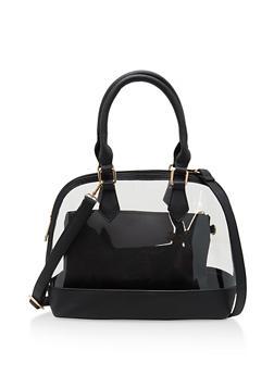 2 Piece Clear Bowler Bag - 1124040320936