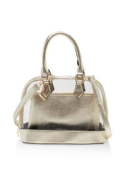 2 Piece Clear Bowler Bag - 1124040320936