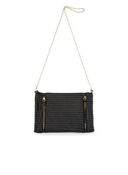 Quilted Faux Leather Crossbody Chain Bag - 1124040322011