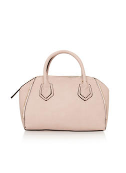 Pebbled Faux Leather Handbag - 1124040322480