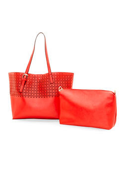 Laser Cut 2 in 1 Shopper Bag - 1124040324384