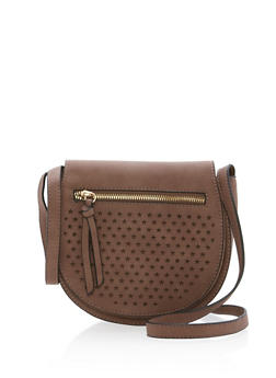 Star Cutout Faux Leather Crossbody Bag - 1124041651077