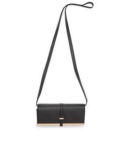 Faux Leather Shoulder Bag - 1124041651728