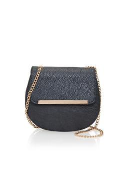 Faux Leather Crossbody Bag - 1124041651745