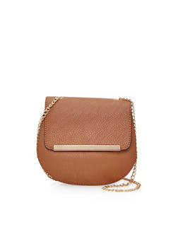 Faux Leather Crossbody Bag - 1124041651745