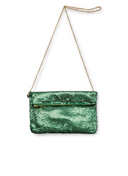 Sequin Foldover Clutch - 1124041651751