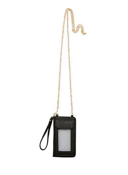 Faux Leather Wristlet Smartphone Case - 1124041651756