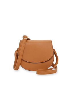 Small Faux Leather Crossbody Bag - 1124041656057