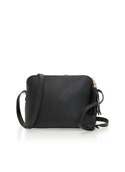 Crossbody Bag with Tassel Zipper - 1124041657380