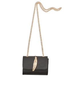 Crossbody Bag with Leaf Accent - 1124041657463