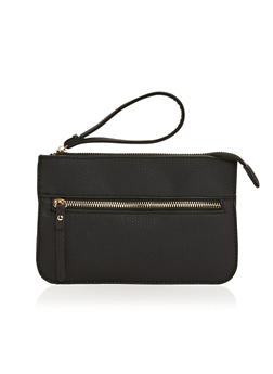 Multi Zip Faux Leather Wristlet - 1124060141568