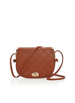 Embossed Faux Leather Crossbody Bag - 1124060141955