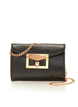 Crossbody Bag with Chainlink Strap - 1124060142051