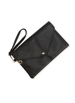 Envelope Clutch with Wrist Strap - 1124060142171