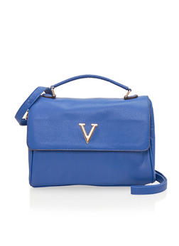 Satchel Bag with Metal V - 1124060142189