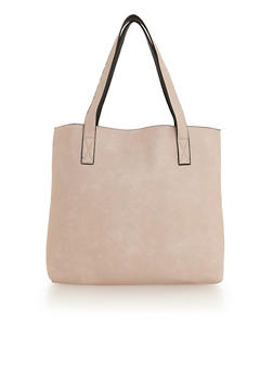 Faux Leather Over The Shoulder Tote Bag - 1124060143007