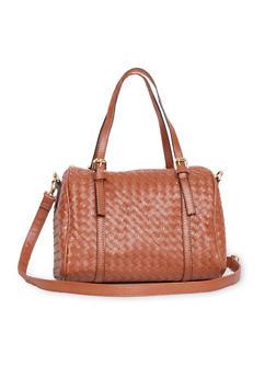 Woven Buckle Strap Handbag - 1124060145015