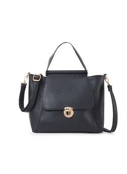 Pebbeled Faux Leather Crossbody Bag - 1124060145034