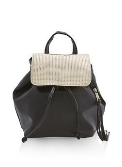 Mirrored Metallic Flap Backpack - 1124061594684