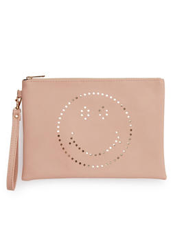 Laser Cut Smiley Face Clutch - 1124061595475