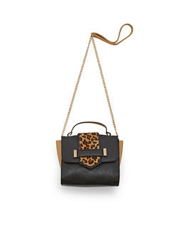 Mini Color Block Crossbody Handbag - 1124061595990