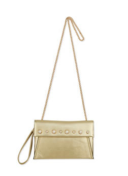 Faux Pearl Studded Crossbody Bag - 1124061596620