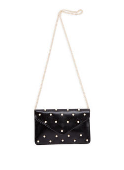 Faux Pearl Studded Envelope Crossbody Bag - 1124061596670