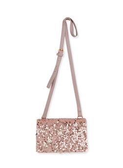 Velvet Sequin Fold Over Crossbody Bag - 1124061596680