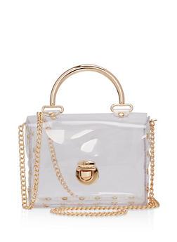 Clear Satchel Crossbody Bag - 1124061596813