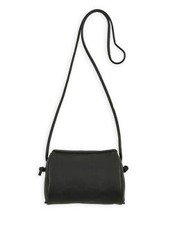 Faux Pebbled Leather Crossbody Bag - 1124061596900