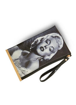 Marilyn Monroe Wristlet with Metal Bar Accent - 1124067446175