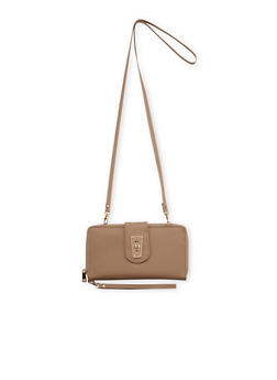 Convertible Crossbody Bag in Faux Leather - 1124067446190