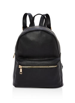 Small Double Zip Backpack - BLACK - 1124067447004