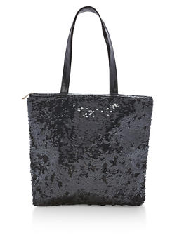 Reversible Sequin Tote Bag - 1124067447017