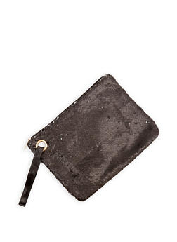 Large Reversible Sequined Clutch - 1124067447018