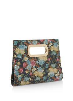 Floral Textured Clutch - 1124067447035