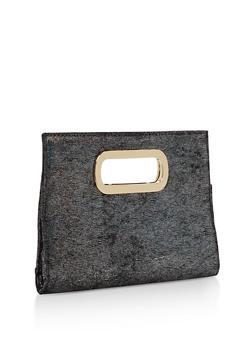 Shimmer Velvet Clutch - 1124067447036