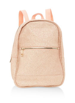 Glitter Zip Backpack - 1124067448002
