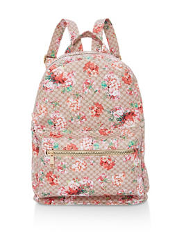 Floral Zip Backpack - 1124067448005