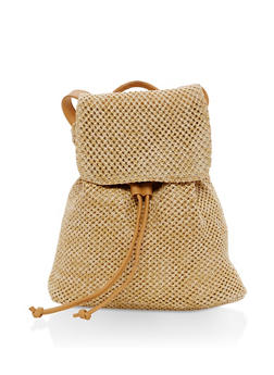 Small Straw Backpack - 1124067448009